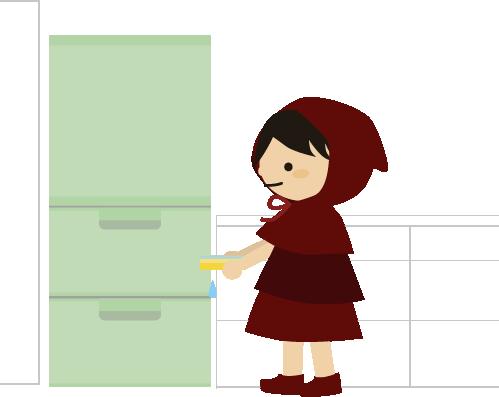 冷蔵庫へ入れる