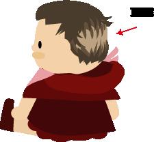 赤ちゃんの後頭部がハゲ(イラスト)