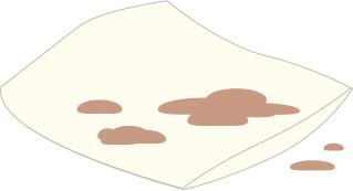 白い座布団にお茶をこぼす