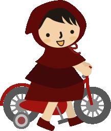 小さい頃自転車で