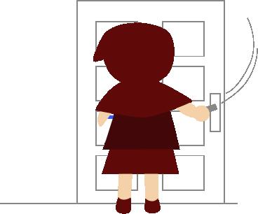 ドアを閉じる