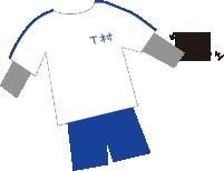 肌シャツの出てる体操服