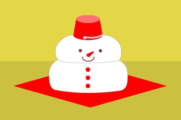 雪だるまの鏡餅