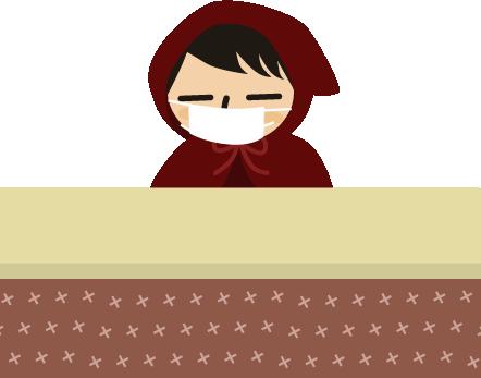 風邪ひきさんinコタツ