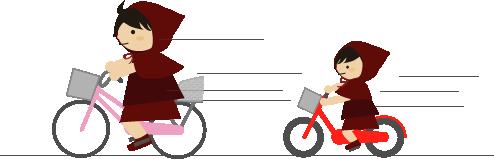 自転車で買い物