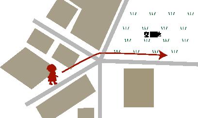 近くの細い道