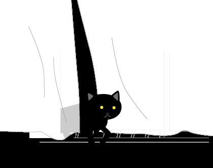黒猫がやってきた