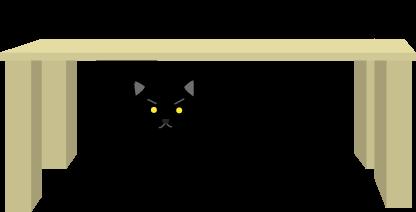 狙いを定める黒猫
