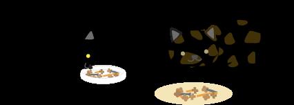 黒猫とまだらちゃん
