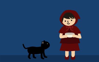 近くに黒猫