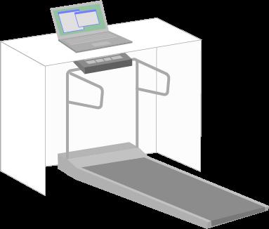 ウォーキングマシンとパソコン