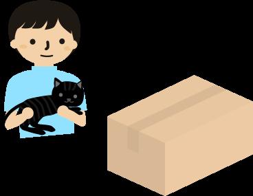 猫達ののための荷物