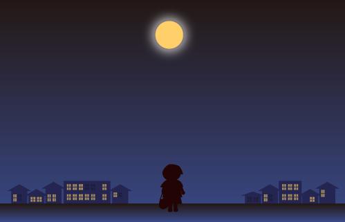 大きなお月さまがきれい
