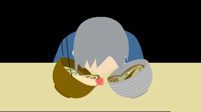 父蕎麦屋にて(気絶)