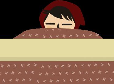 コタツで寝落ちからの寝起き