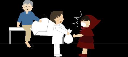 父と看護士さんと私