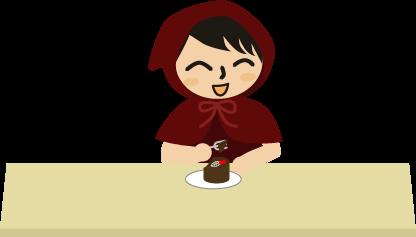 チビずきんとチョコレートケーキ