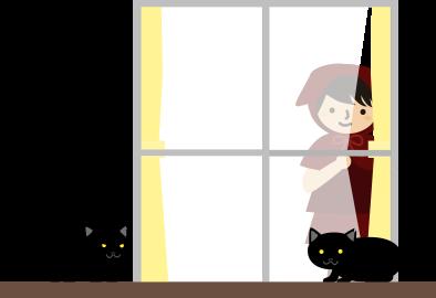 猫たちと赤ずきん