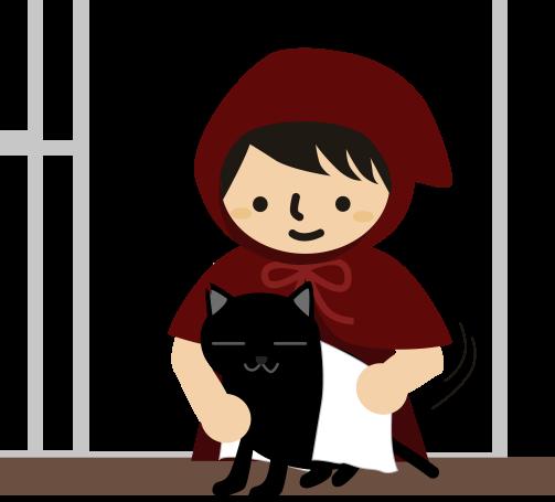 黒猫を拭く