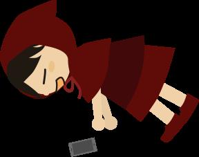 チビずきん(熟睡)