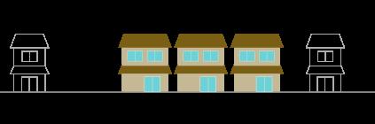 小さい家がいっぱい