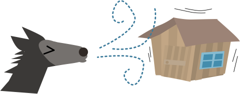 三匹の子豚の木の家