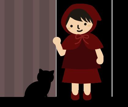 雨戸を開けたら黒猫
