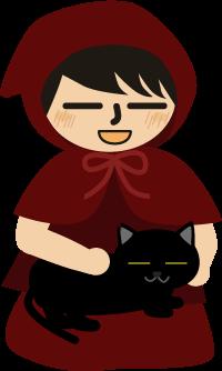 黒猫が膝の上に