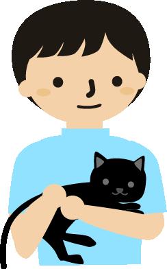 黒猫ちゃんと友達