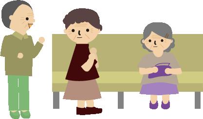 病院の待合でお婆ちゃんたちのおしゃべり2
