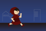 夜道を走る