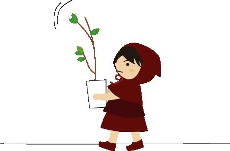 観葉植物を移動する