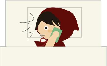 電話で驚く