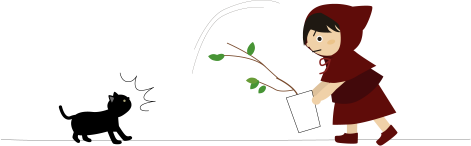 観葉植物を移動するが落としかけたところに猫が来る
