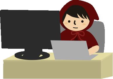 パソコンで仕事中