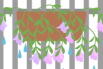 雨で花が下に垂れるS
