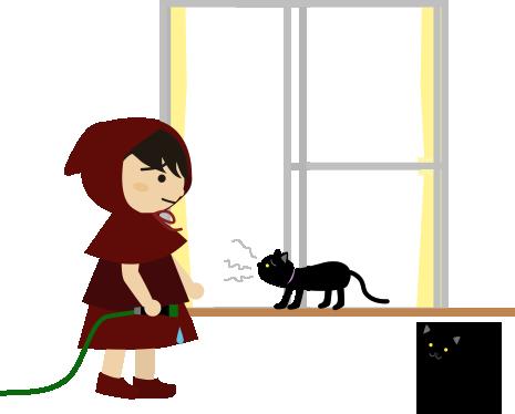黒猫の声が出ない