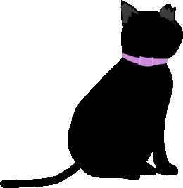 黒猫(蚊除けの首輪)