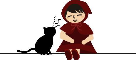 黒猫が話しかけてくる
