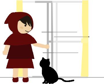 戸を開ける