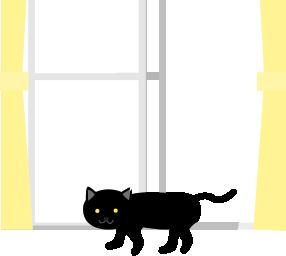 黒猫が家に入ってくる