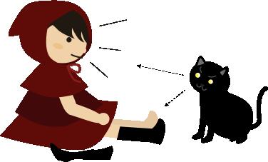 ハイソックスを履くところを猫がガン見