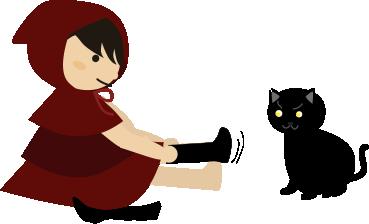 ハイソックスを履くところを猫がガン見2