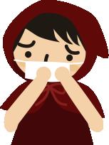 風邪引いてマスク