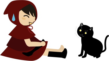 黒猫が驚いた顔で見てくるけどなんで?