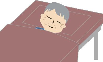 穏やかな表情で寝てる父