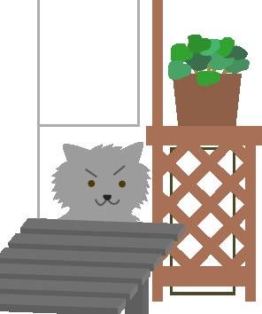 ふさふさの猫が隠れてた
