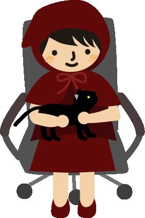 膝の上に黒猫