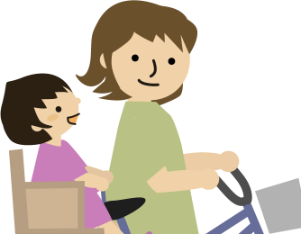 自転車の親子