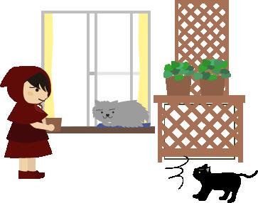 フサフサ猫に気づく